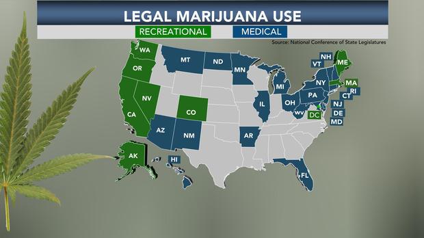 Medicinal marijuana is legal in a majority of states.