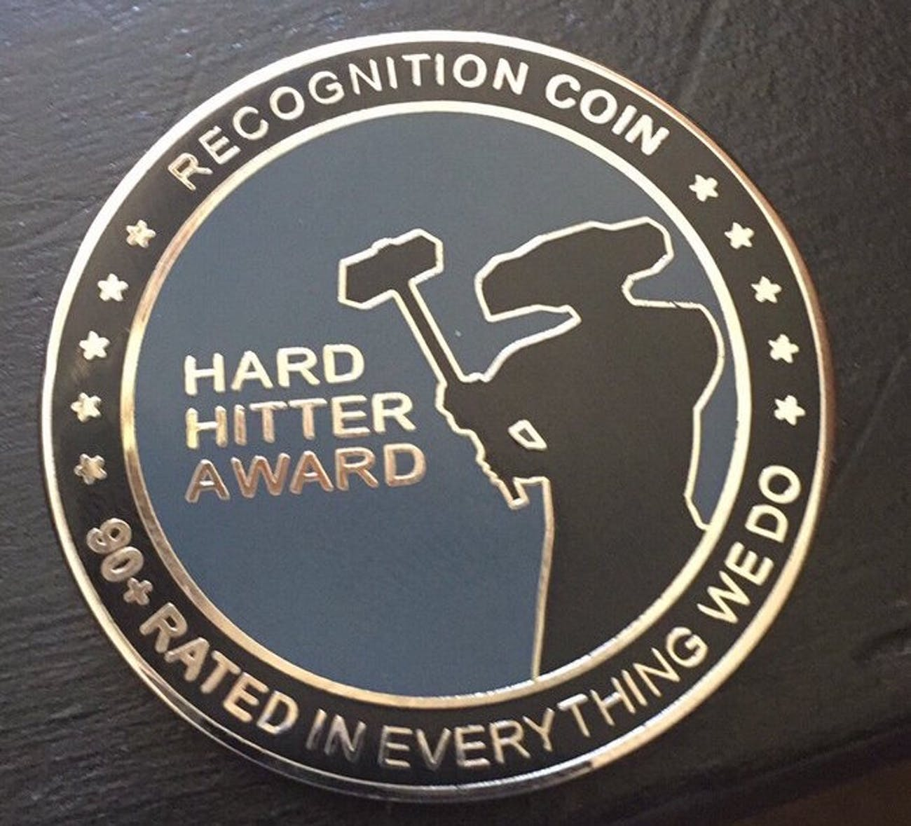 The Hard Hitter Award Challenge Coin.