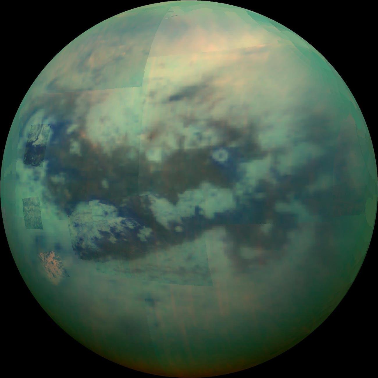 Saturn moon Titan NASA cassini image