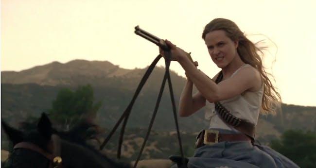Evan Rachel Wood as Dolores, leader of the robot Host revolution in 'Westworld.'