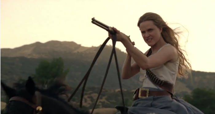 Evan Rachel Wood as Dolores, leader of the robot Host revolution in 'Westworld.'