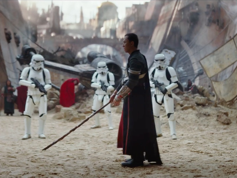 Donnie Yen Uses a Quarterstaff in 'Rogue One: A Star Wars Story' Trailer