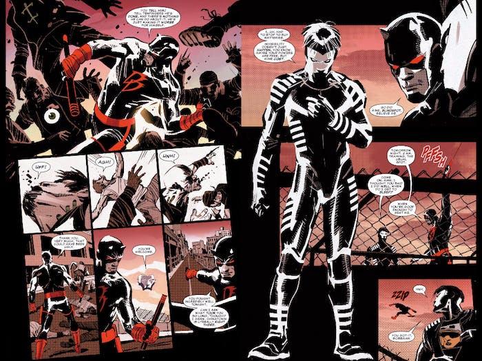 Blindspot's first appearance in 'Daredevil' #1.