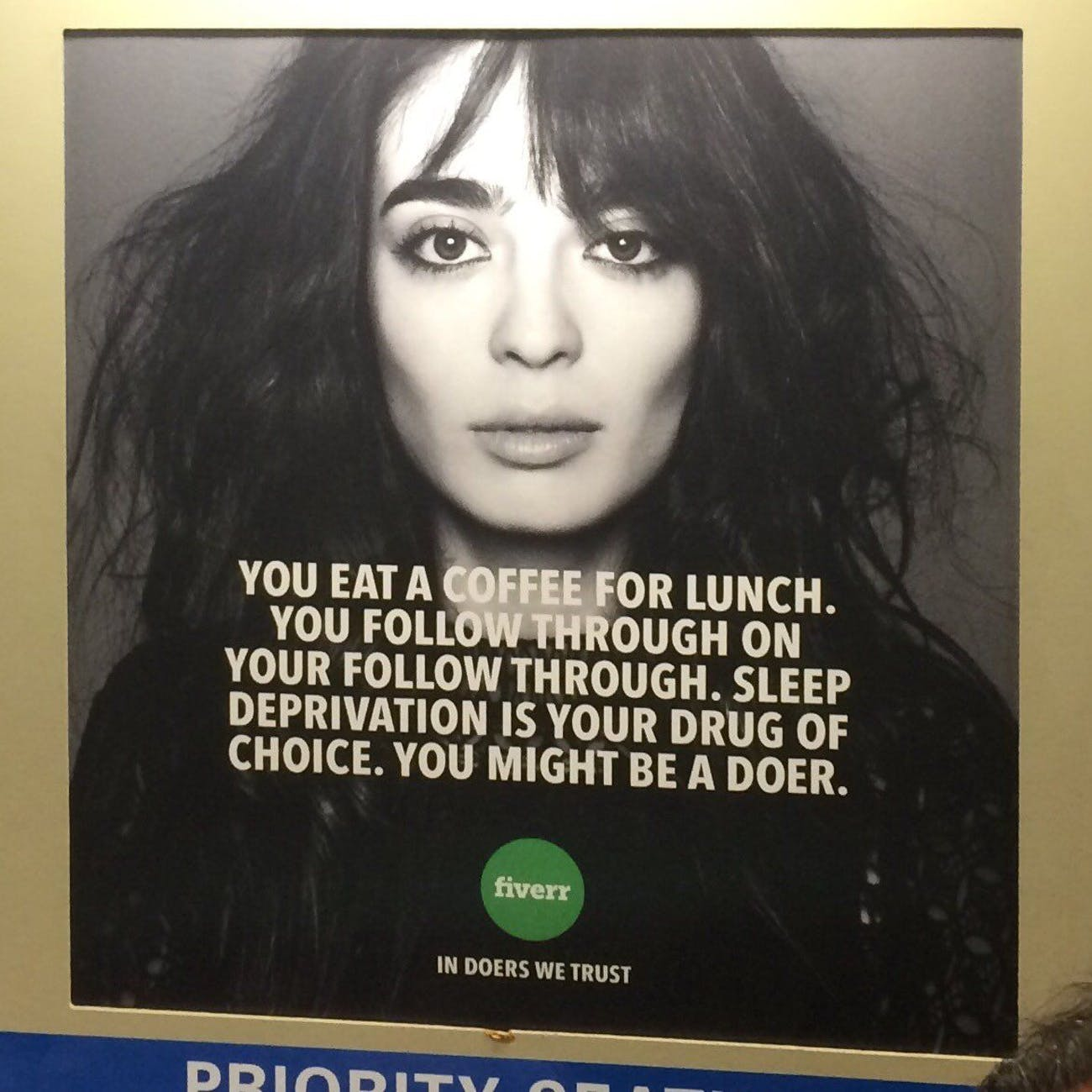 An ad for Fiverr, a gig-economy business.