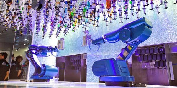 robot bartender tipsy robotic drink alcohol bar cocktail