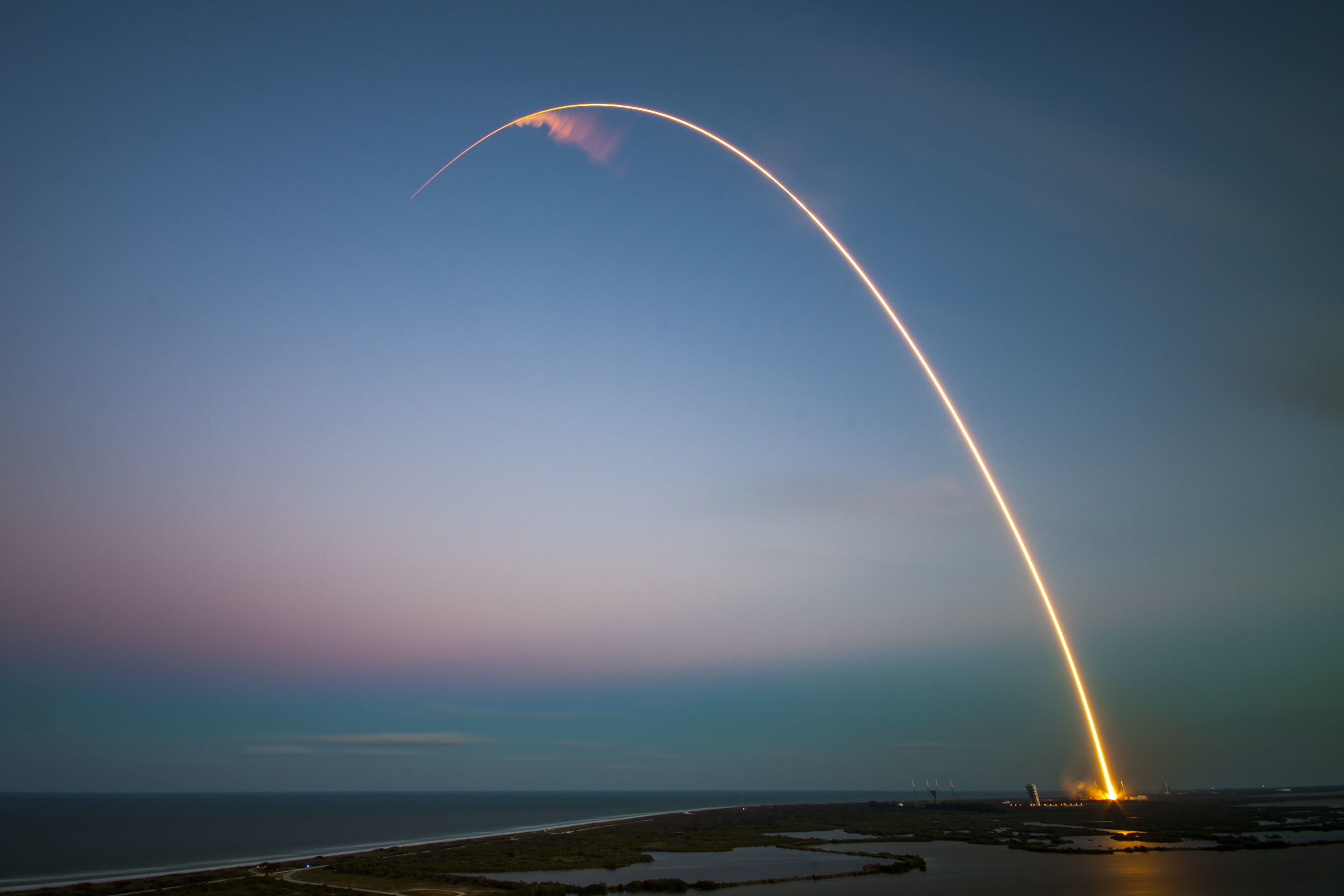 SpaceX's Falcon 9 rocket makes a successful launch with the SES-9 communications satellite in March of 2016.