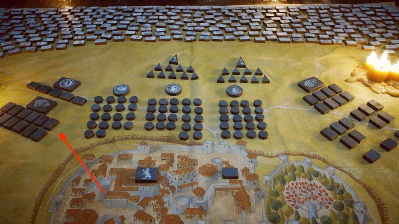 Battle of Winterfell war table