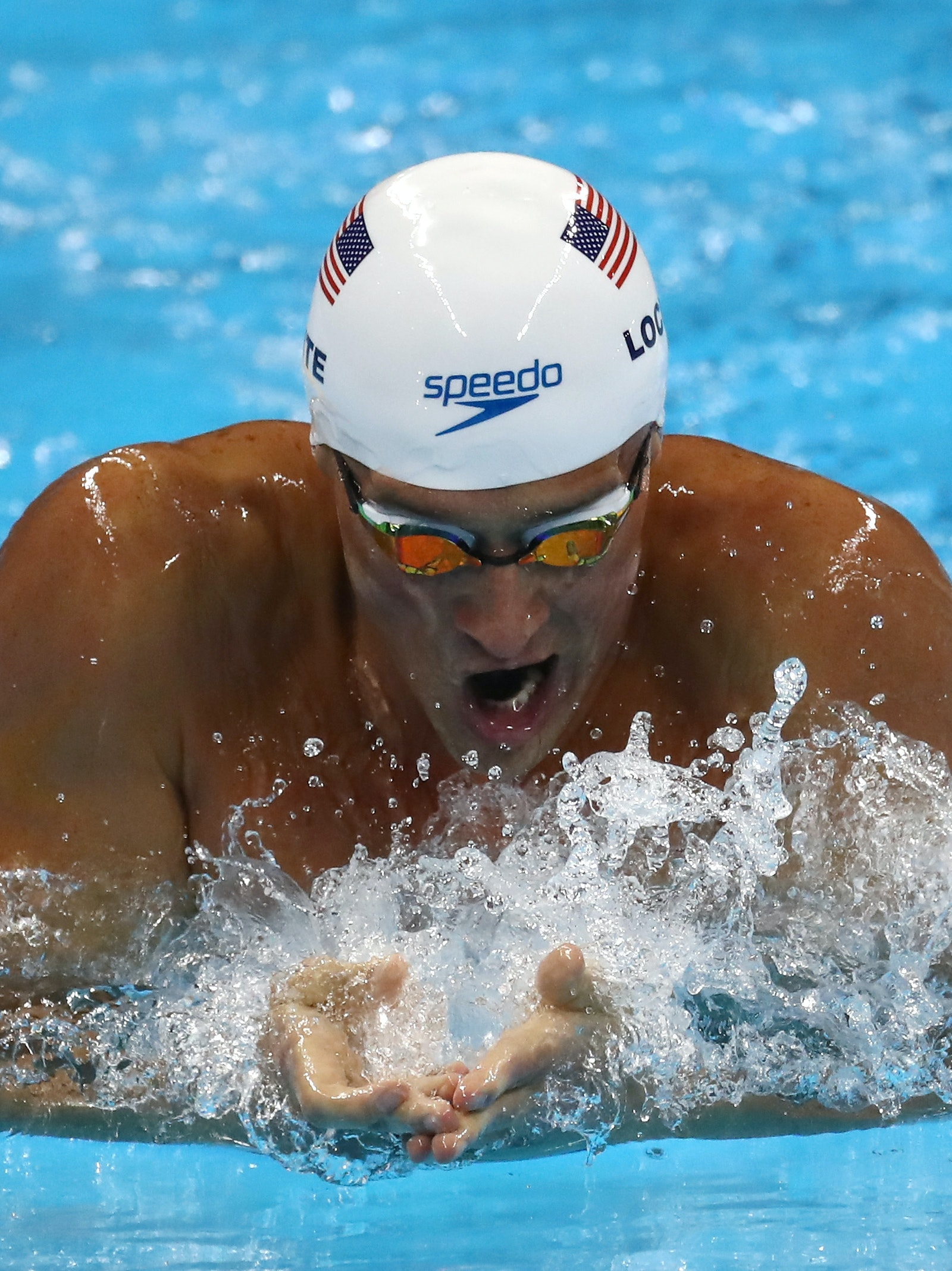 RIO DE JANEIRO, BRAZIL - AUGUST 10:  Ryan Lochte of the United States in the Men's 200m Individual Medley heat on Day 5 of the Rio 2016 Olympic Games at the Olympic Aquatics Stadium on August 10, 2016 in Rio de Janeiro, Brazil.  (Photo by Al Bello/Getty Images)