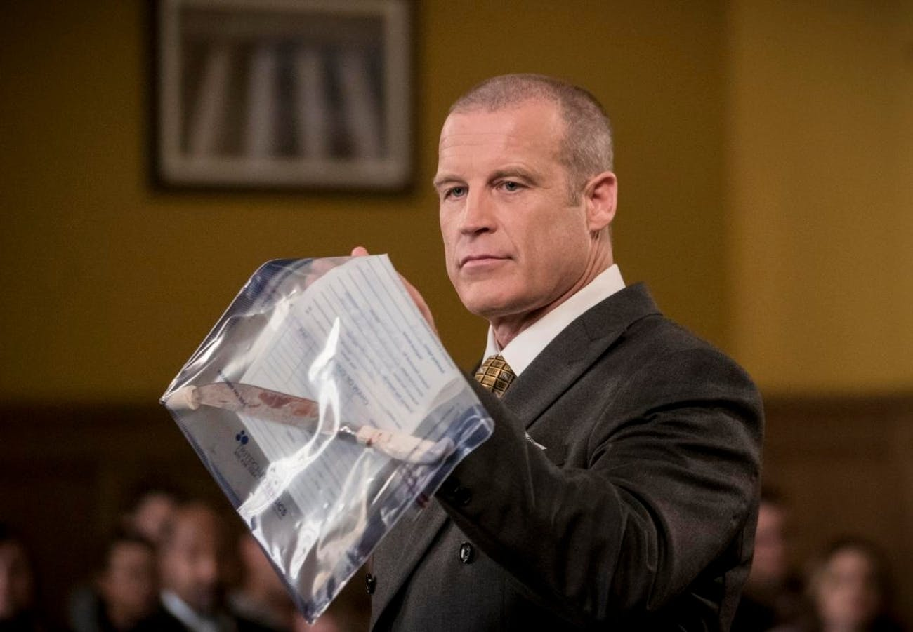 Mark Valley as district attorney Anton Slater, who prosecutes Barry.