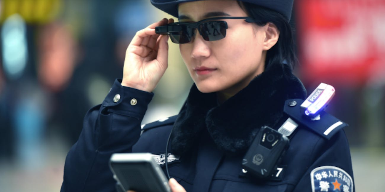 Chinese Police Debut Facial Recognition Glasses Heres How Good Department Wiring Diagram China