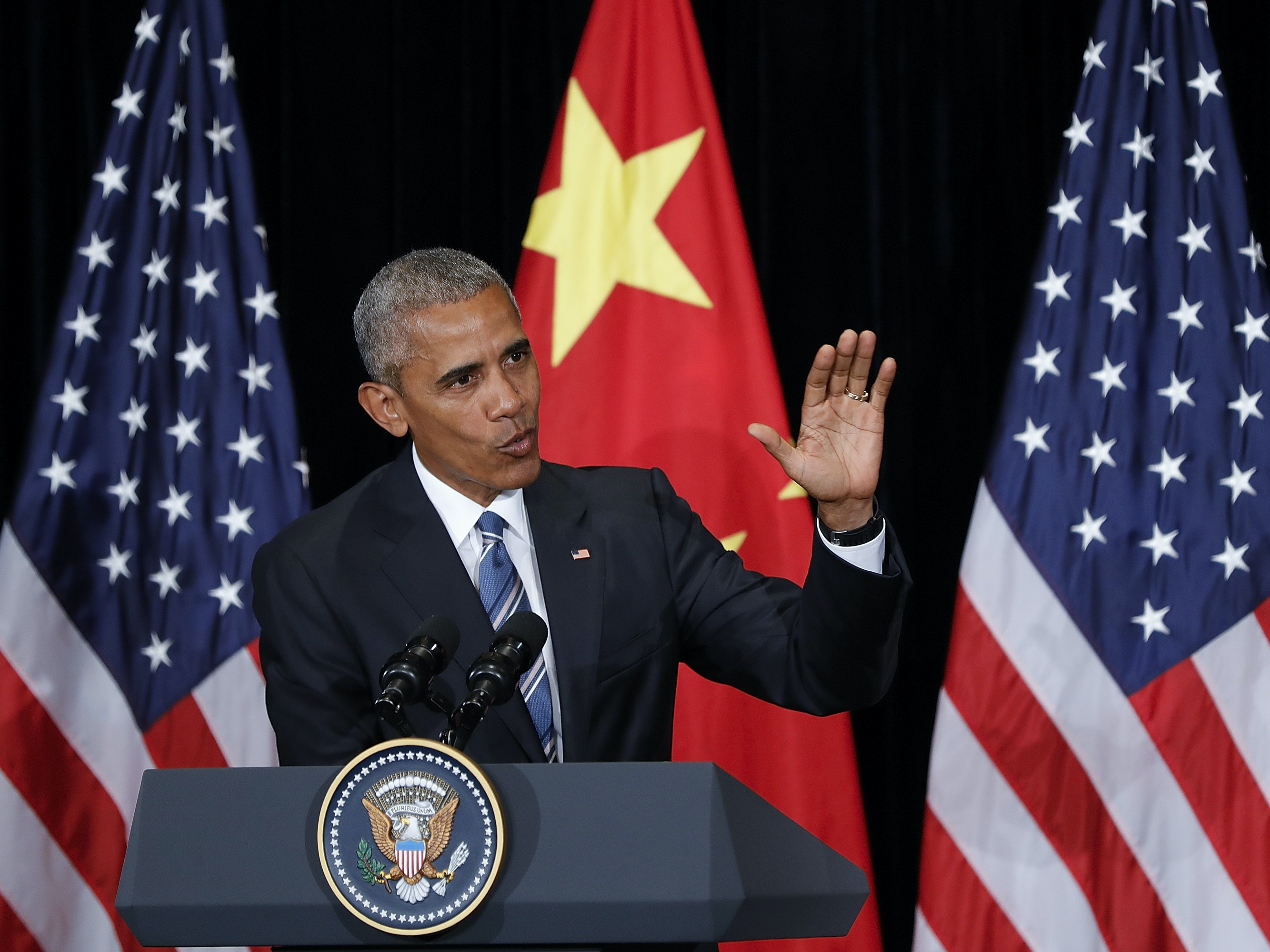 President Barack Obama addressed rising cyber security threats at the G-20 Summit on Monday.
