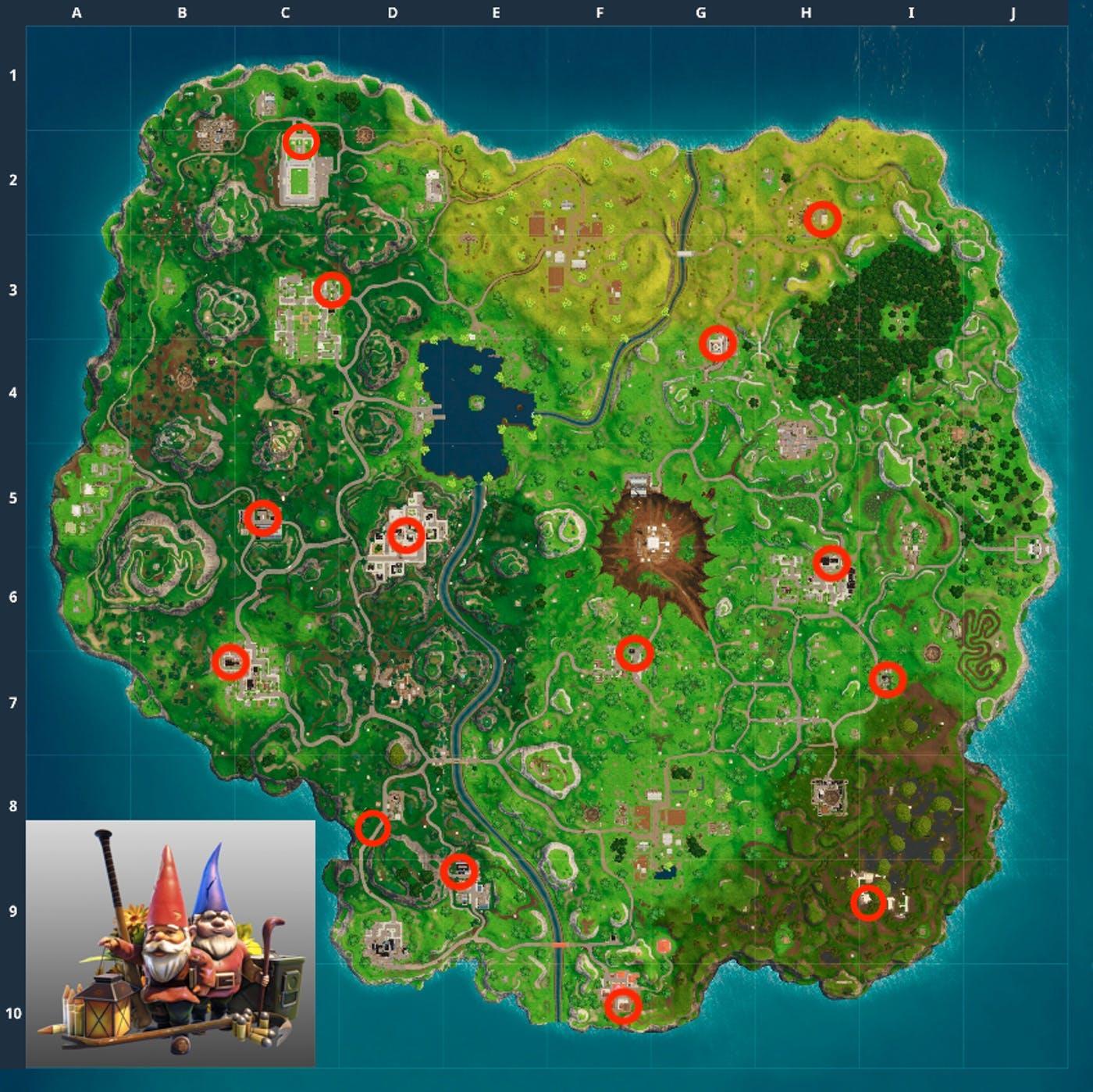 all gnome locations fortnite