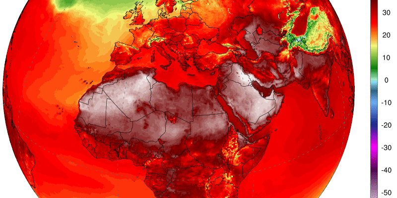 Heat Maps Reveal Record-Breaking Temperatures Across the Globe