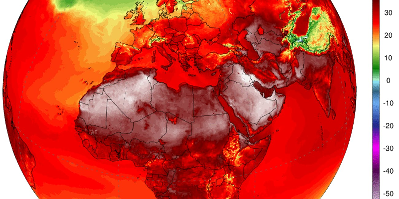 Climate Reanalyzer Africa Europe