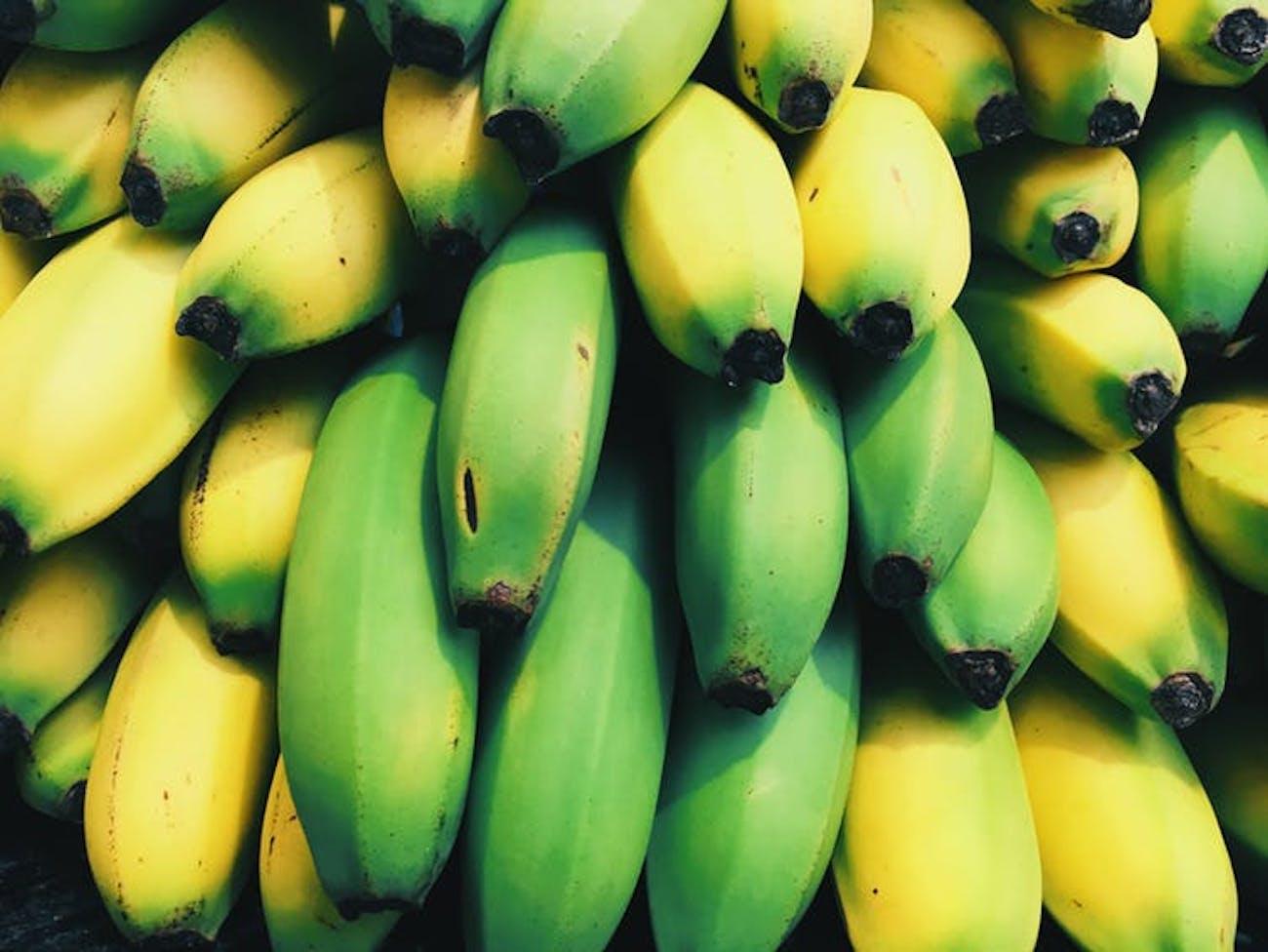 An average banana has 400 mg of potassium.