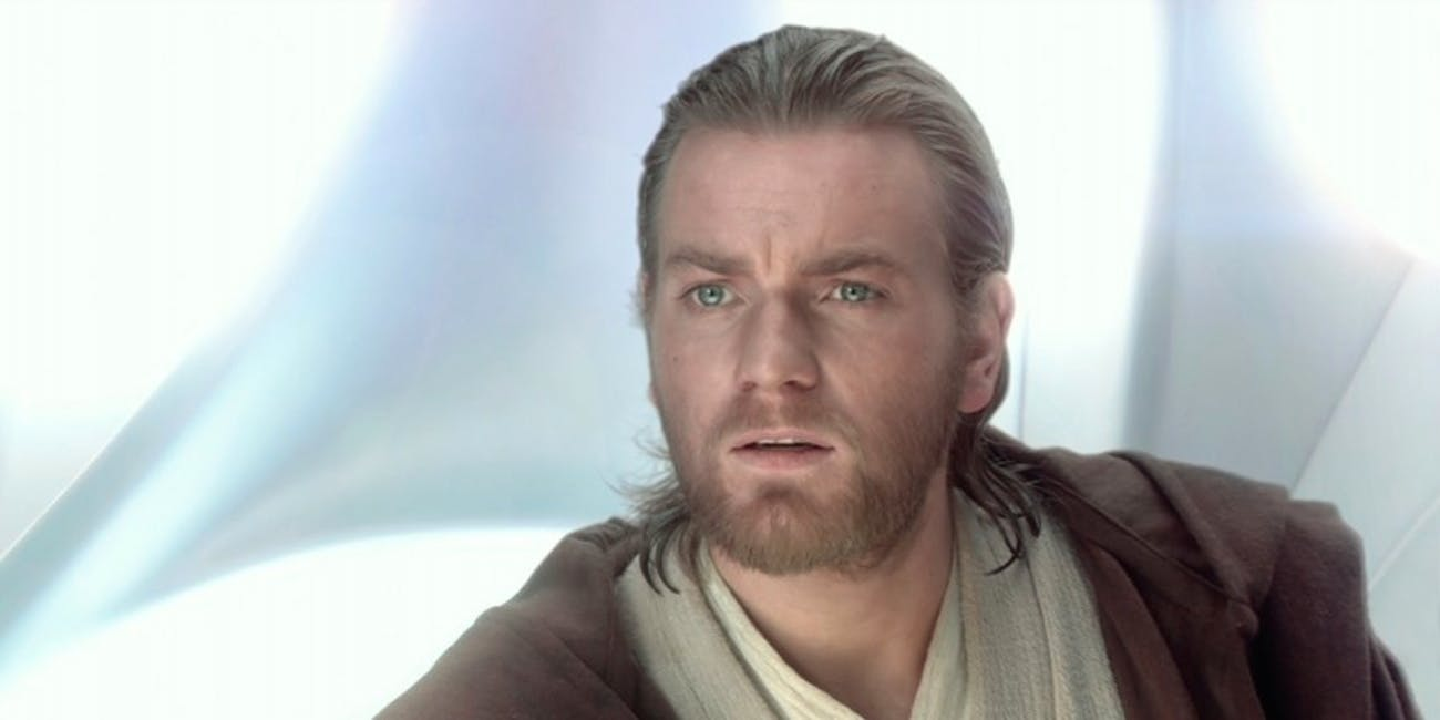it looks like obi wan kenobi has been confused with jesus christ