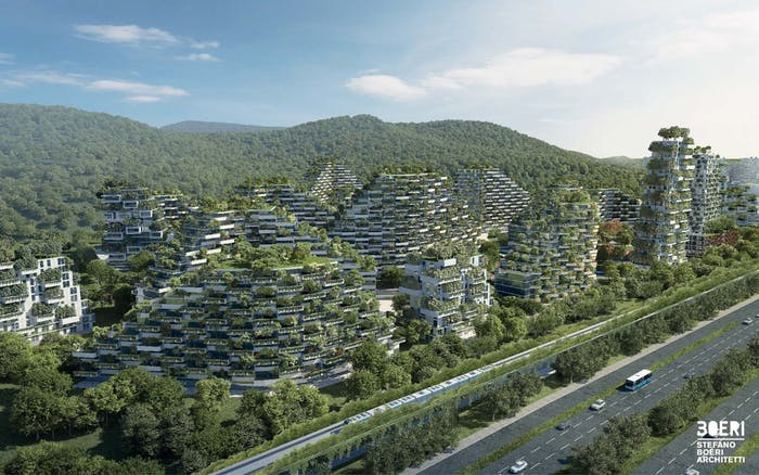 stefano boeri architetti liuzhou forest city tree apartment building architecture