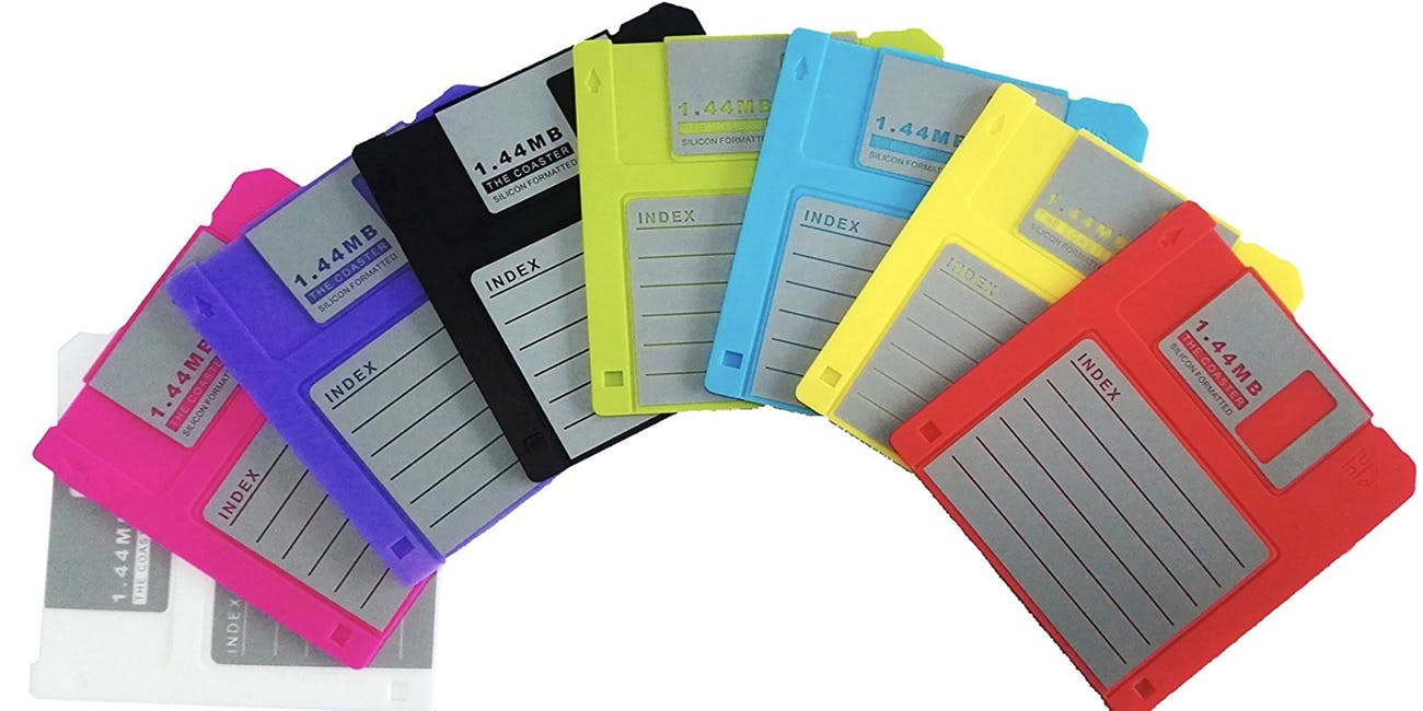 floppy disc coasters