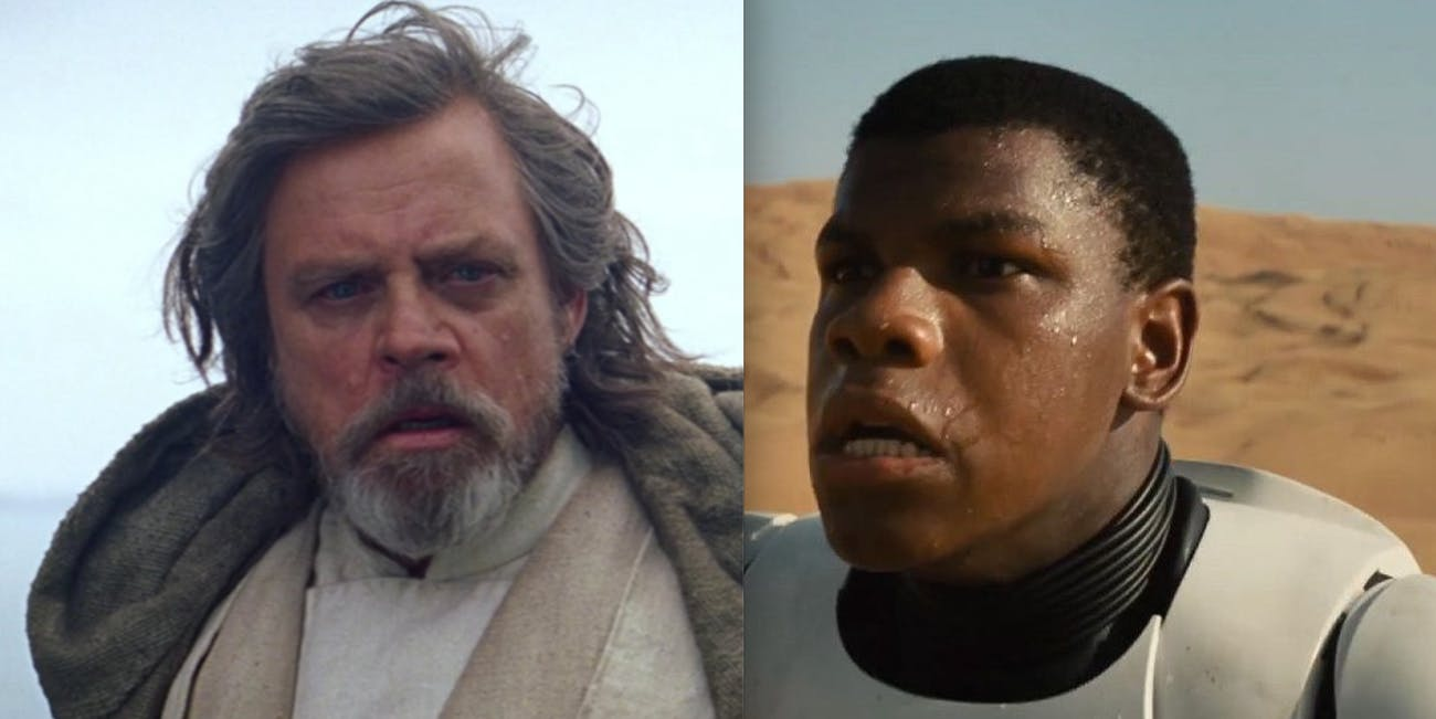 Mark Hamill and John Boyega
