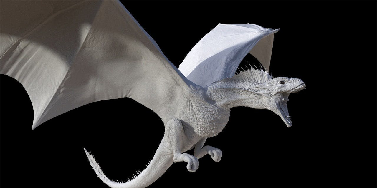 Pixomondo's CG Drogon model