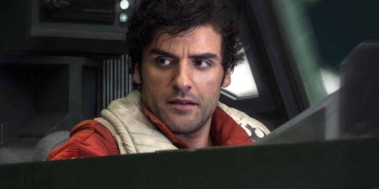 Poe Dameron as he appears in 'The Last Jedi.'
