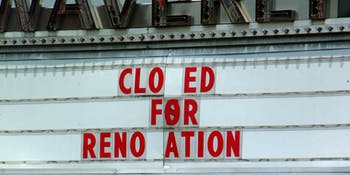 Cinema, marquee