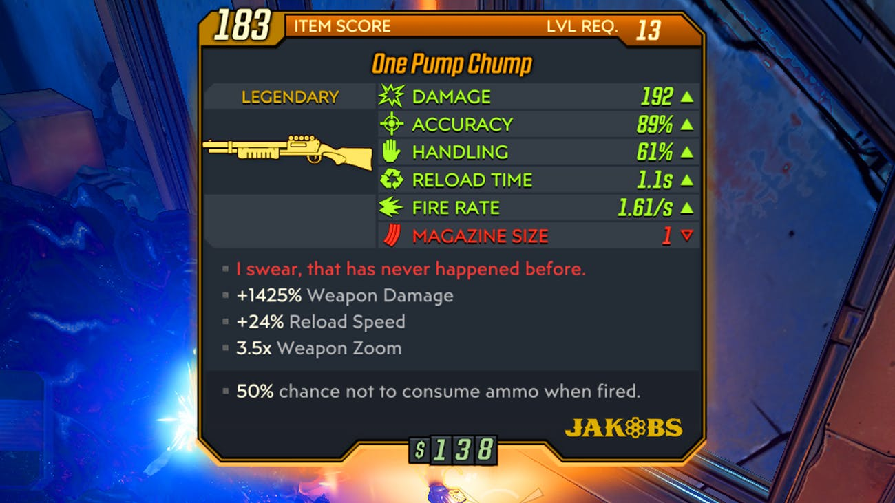 borderlands 3 one pump chump shotgun