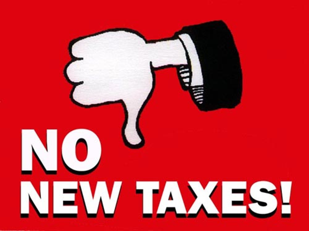 No New Taxes!