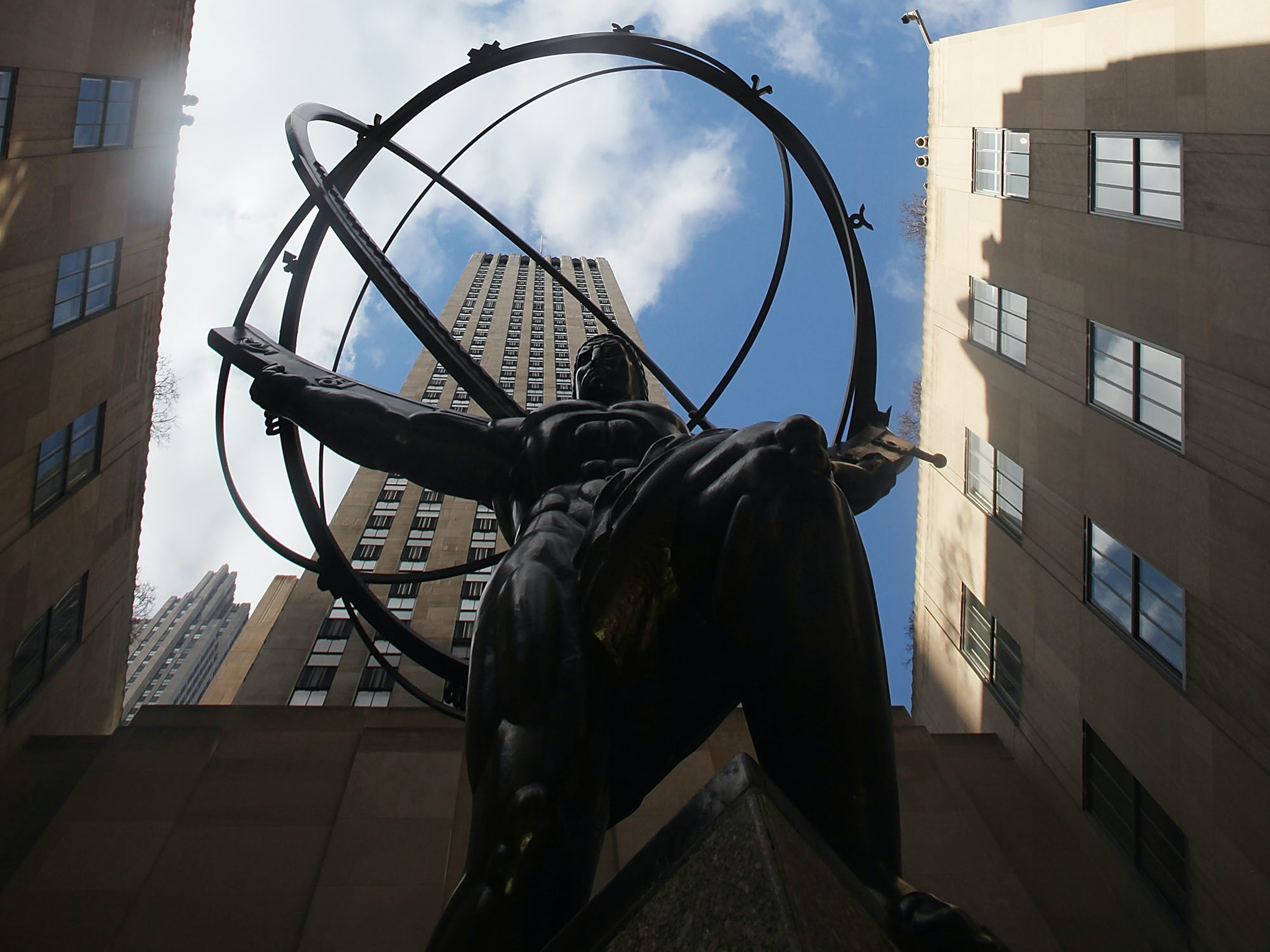 The Atlas statue in Rockefeller Center in Manhattan has come to represent Ayn Rand and objectivism.