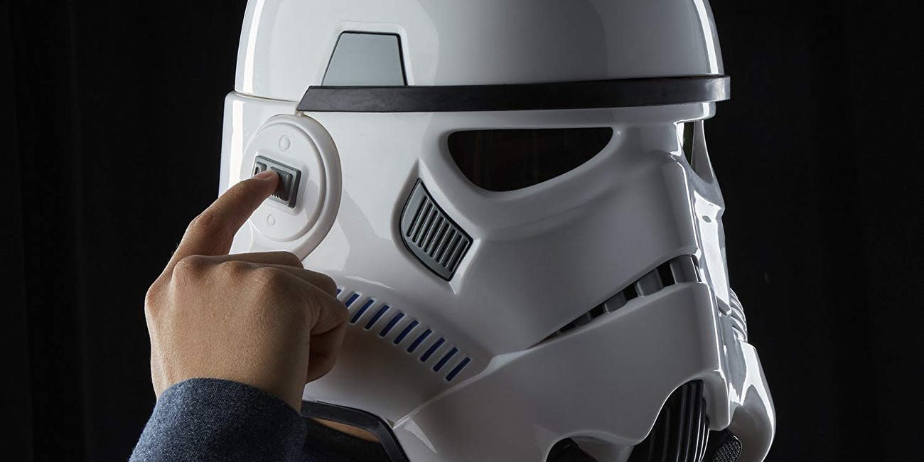 Star Wars The Black Series Rogue One: A Star Wars Story Imperial Stormtrooper Electronic Voice Changer Helmet