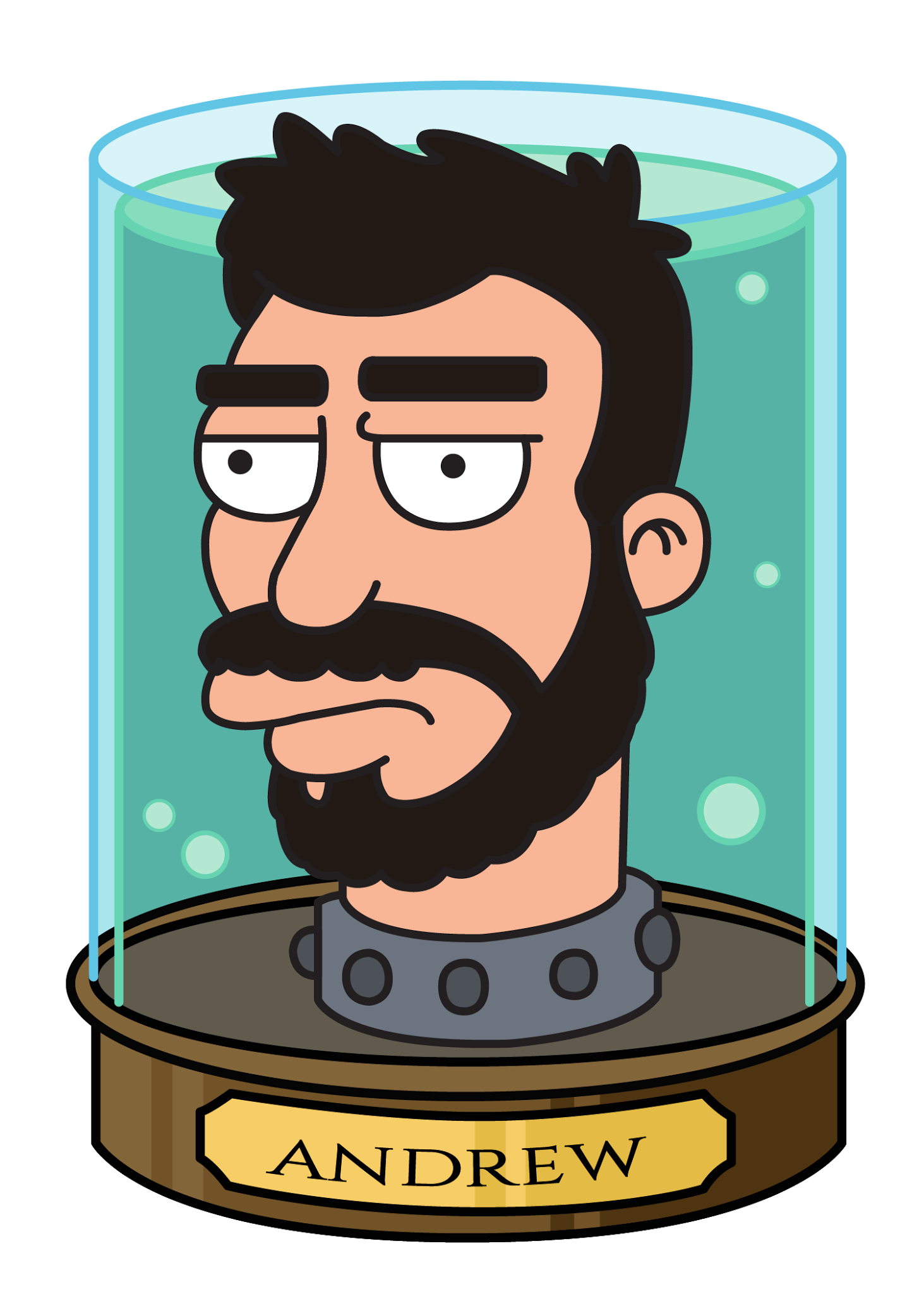 Here's Andrew Green in the classic 'Futurama' style.