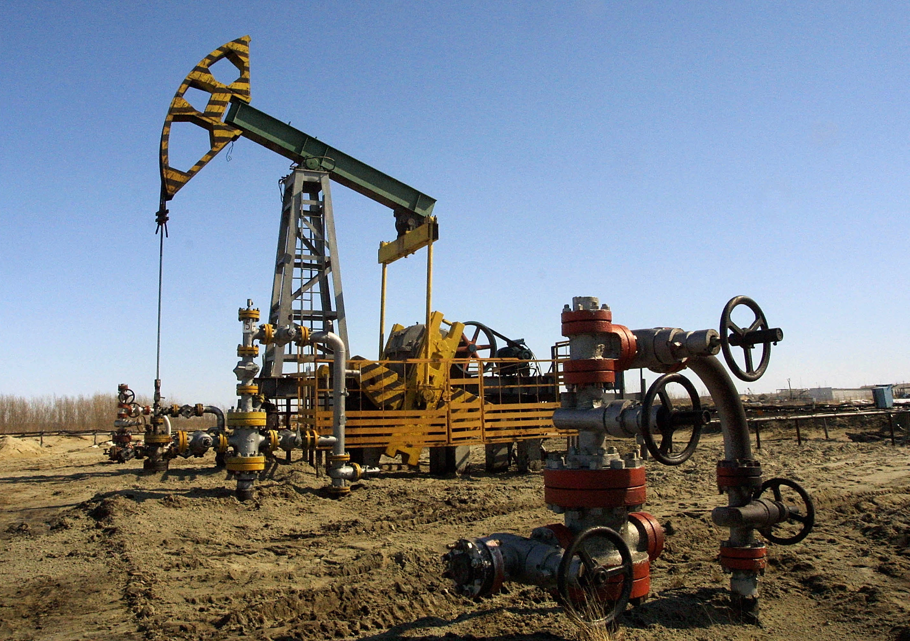 A Russian oil well.