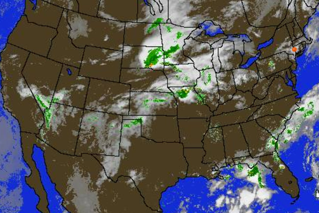 U S Map Shows Where It S Cloudy For Today S Total Solar Eclipse