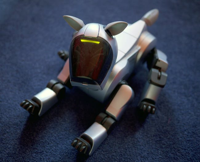 The Sony Aibo ERS 210.