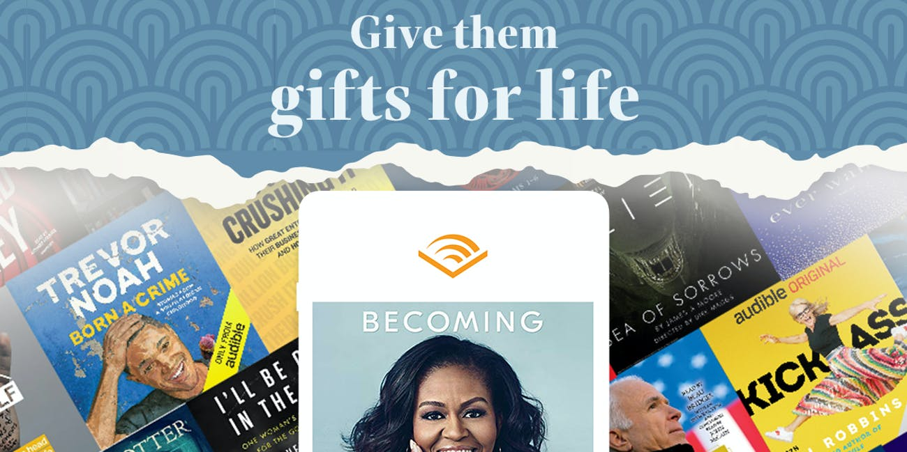 Give the gift of audio books with Audible
