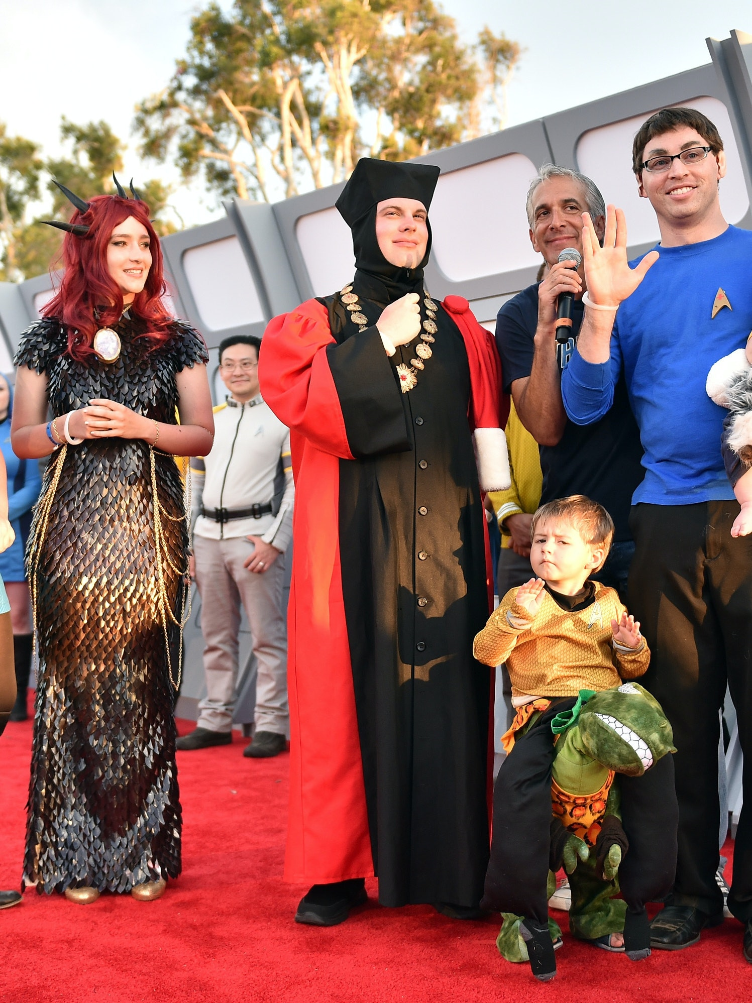 SAN DIEGO, CA - JULY 20:  Guests dress in costume on the carpet at the world premiere of the Paramount Pictures title Star Trek Beyond at Embarcadero Marina Park South on July 20, 2016 in San Diego, California.  (Photo by Mike Windle/Getty Images)