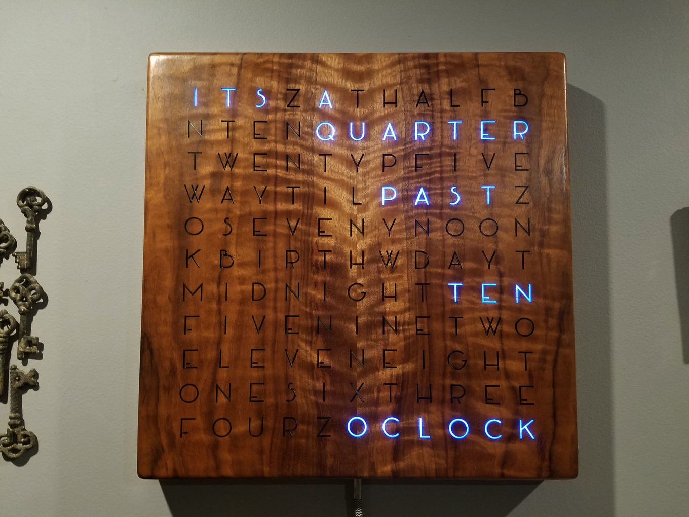 How To Make A Digital Wooden Clock Spell The Time Inverse