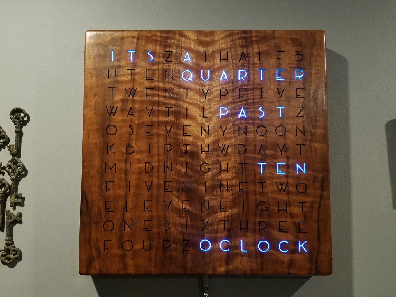 Making a Digital Wooden Clock Spell the Time