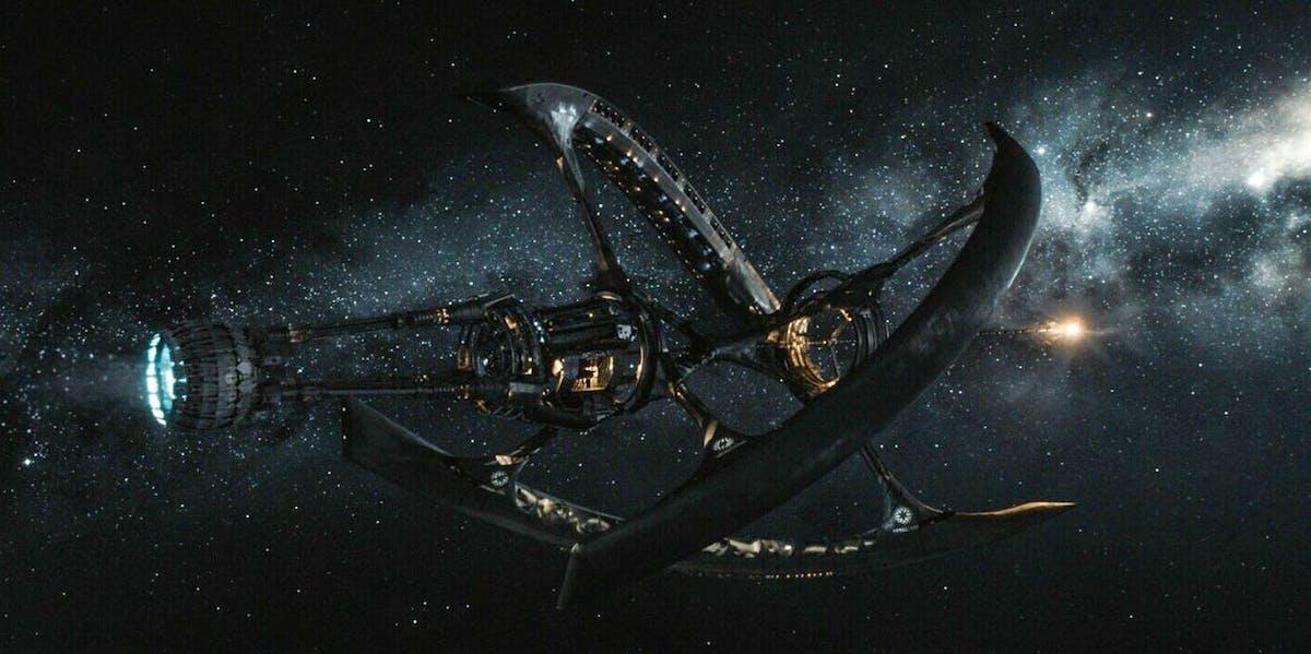 The Starship Avalon in 'Passengers.'