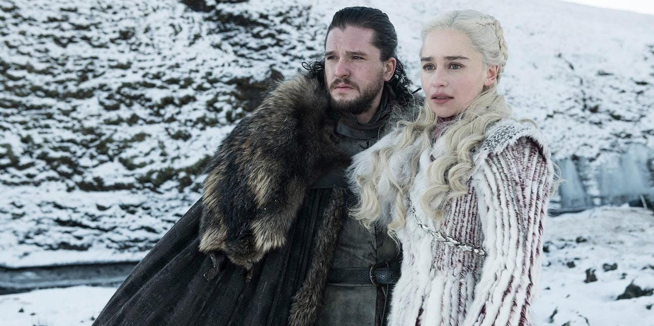 Kit Harington and Emilia Clarke on 'Game on Thrones' Season 8