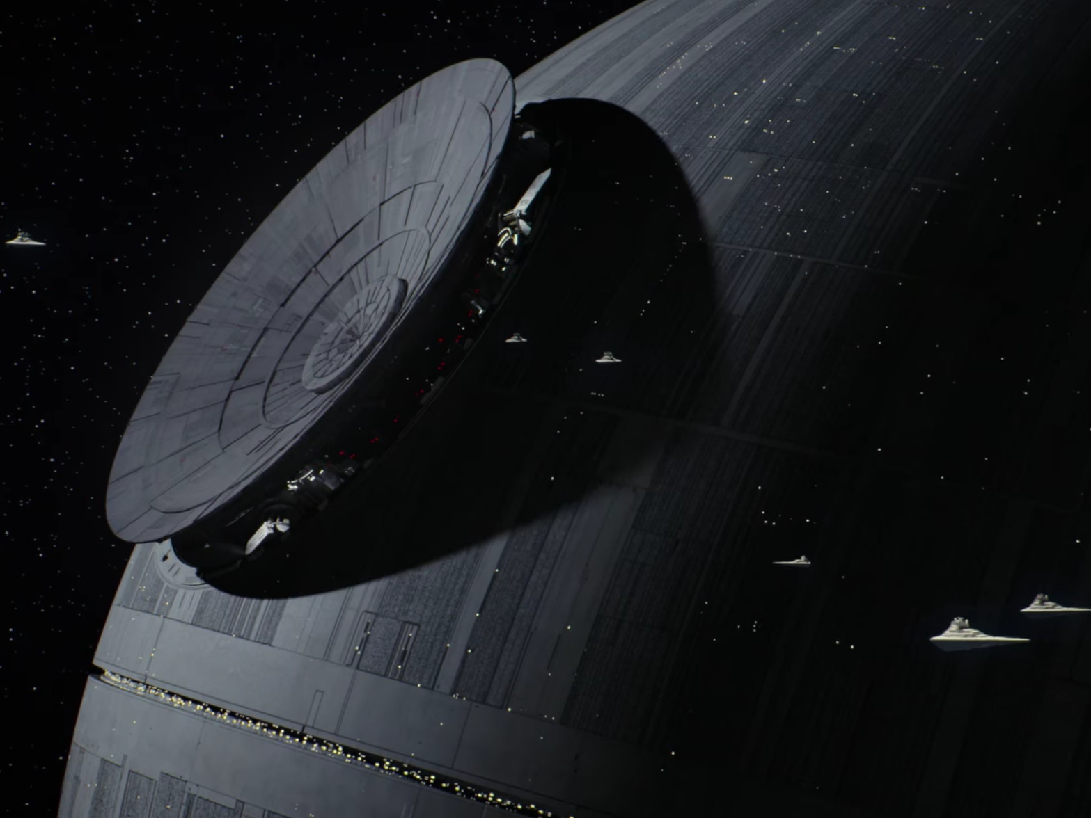 The Death Star in 'Rogue One.'