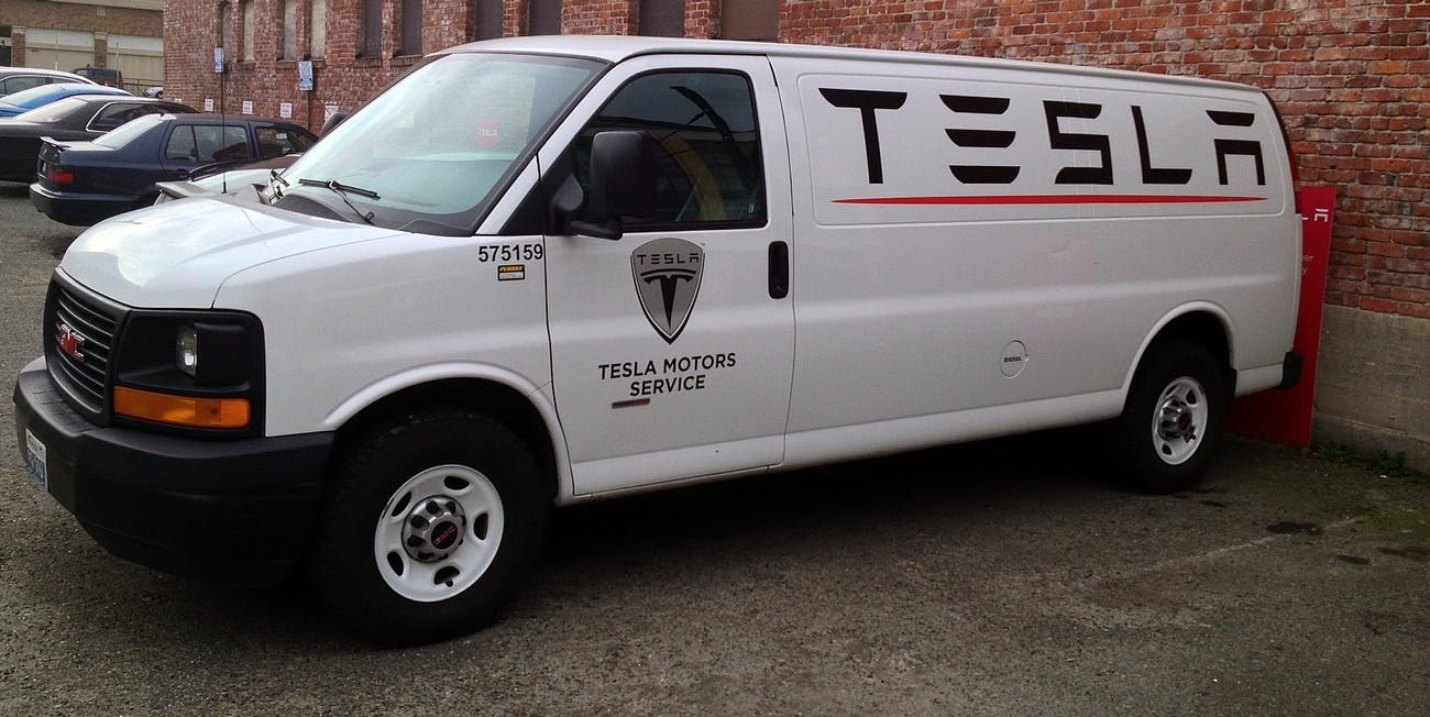 Tesla Seattle - Service Van