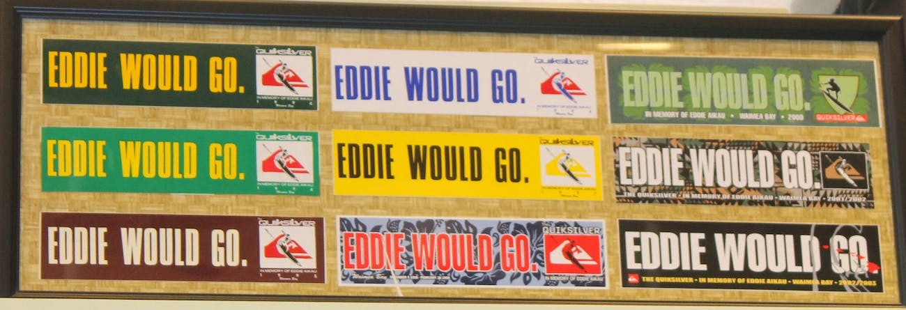 Various accounts online, like one at teamsurfgimp.blogspot, show how Eddie Would Go has become a philosophy among surfers.