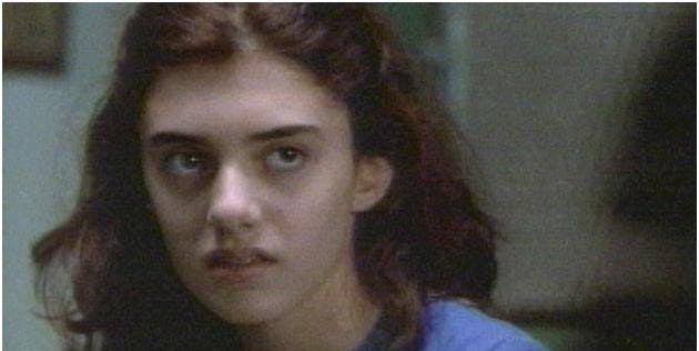 Here's another picture of Madeline from the same '99 Law and Order episode, and it turns out, we only look alike from one angle.