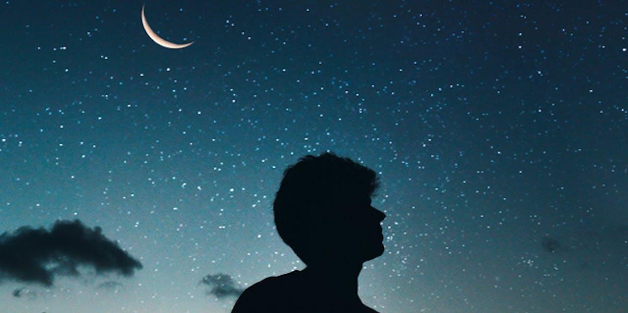 boy, moon