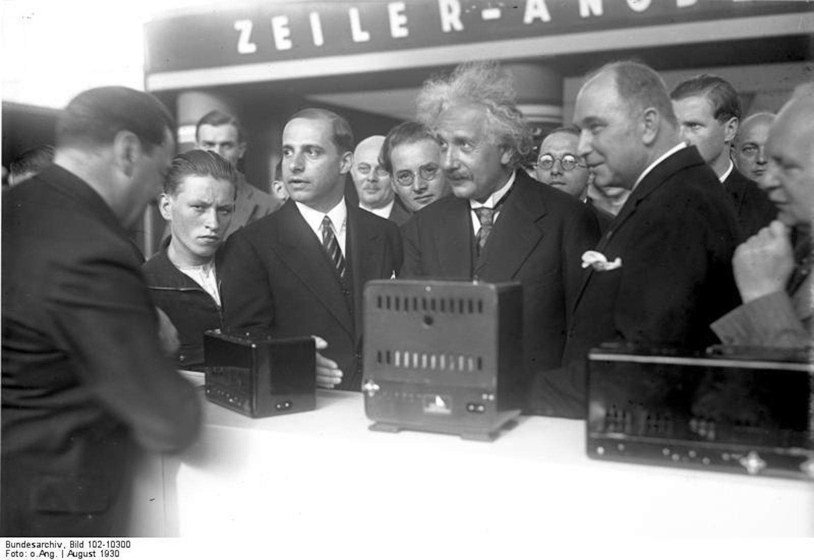 More details Einstein opens the IFA in 1930.