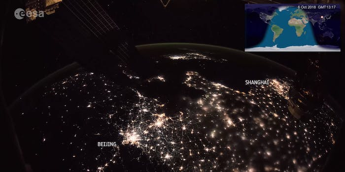 esa longest time lapse from ISS
