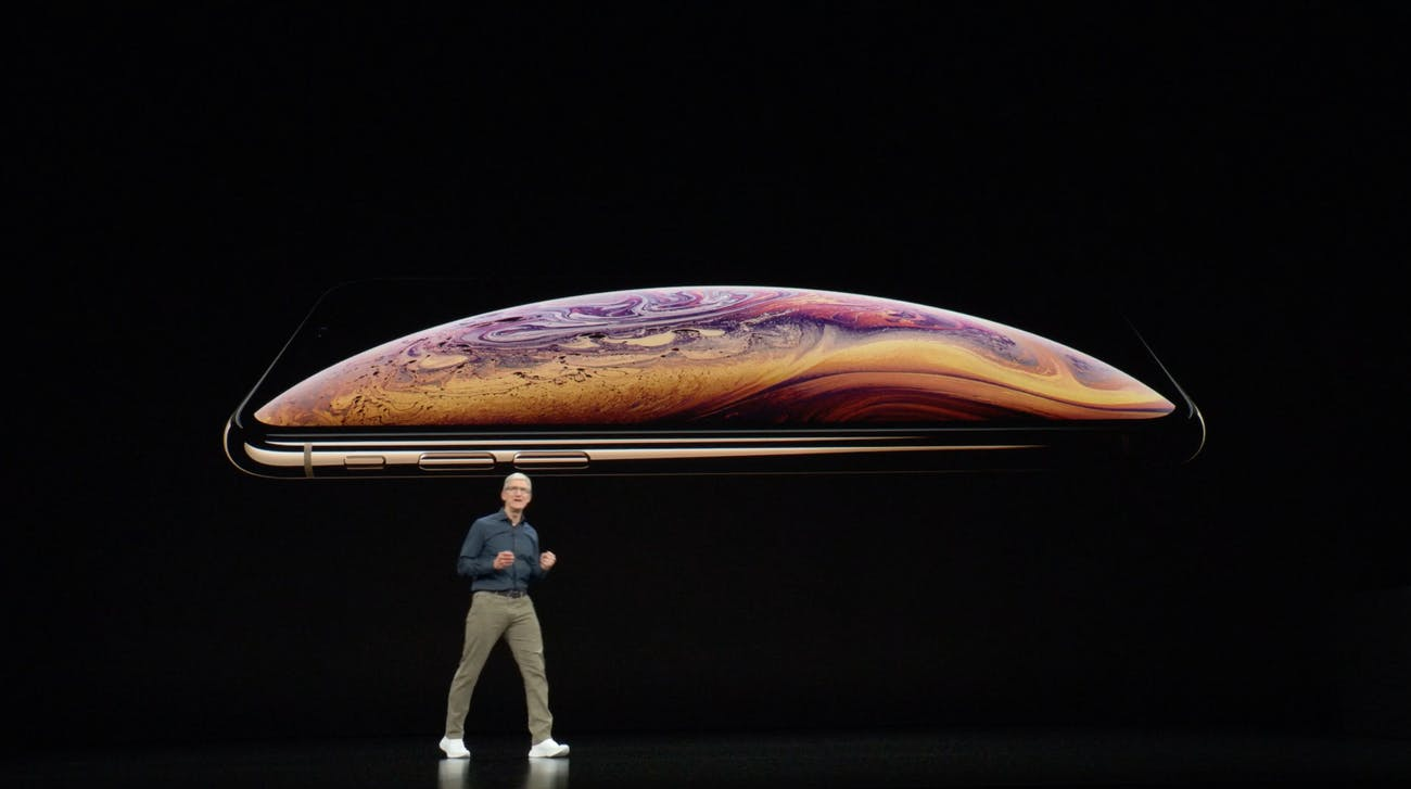 iPhone is big.