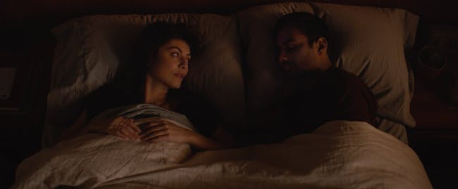 Francesca and Dev in the final moment of Season 2.
