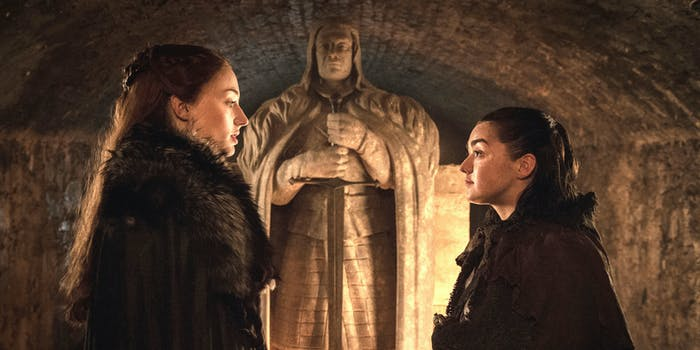 Sophie Turner and Maisie Williams in 'Game of Thrones' Season 7